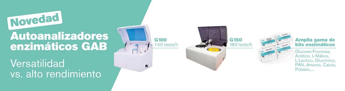 Nuevos autoanalizadores enzimáticos G100 y G150