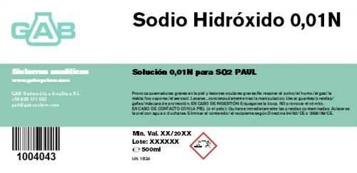 Subido nuevo producto: SOSA 0.01N para SO2 Paul-Rankine