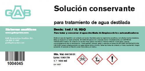 Subido nuevo producto: SOLUCION CONSERVANTE PARA AGUA DESTILADA