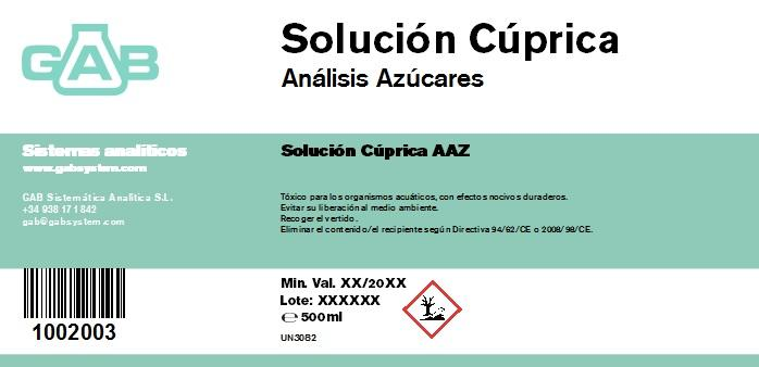 ANALISIS AZUCARES SOL. CUPRICA