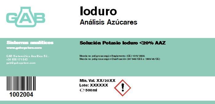 ANALISIS AZUCARES IODURO - ANALISIS AZUCARES IODURO  500 mL