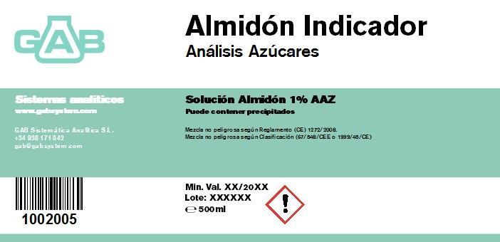 ANALISIS AZUCARES ALMIDON - ANALISIS AZUCARES ALMIDON  500 mL