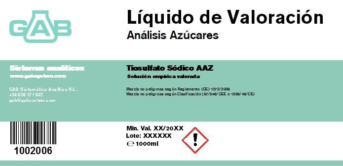 ANALISIS AZUCARES SOL. VALORACION - ANALISIS AZUCARES SOL. VALORACION 1000 mL