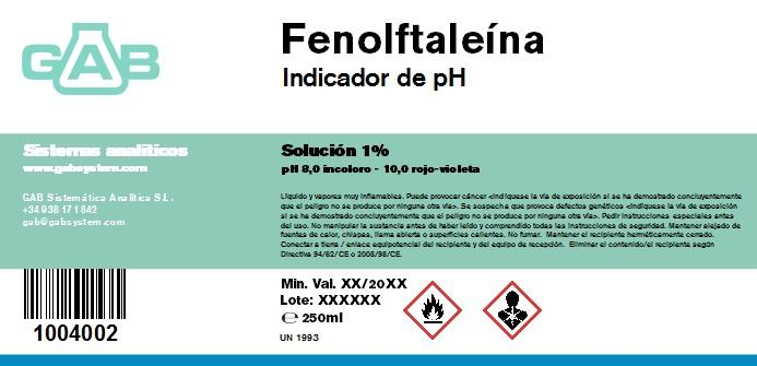 FENOLFTALEINA SOL. 1%  250 mL