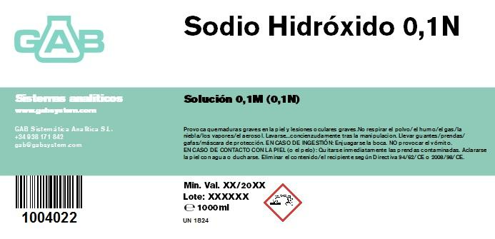 SODIO HIDROXIDO 0.1M (0.1N) 1000 ml