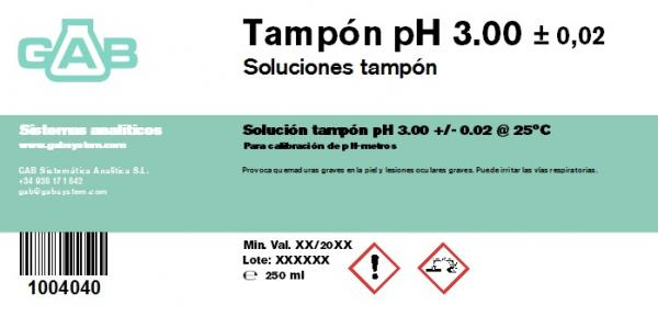 TAMPON pH 3.00 GAB 250 ml