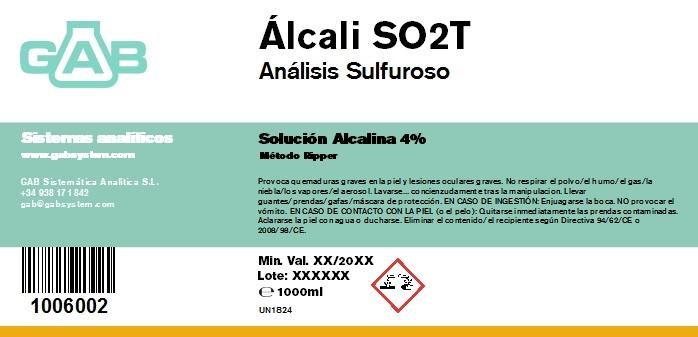 ANALISIS SULFUROSO (SO2) ALCALI 1000 mL - ANALISIS SULFUROSO (SO2) ALCALI 1000 mL