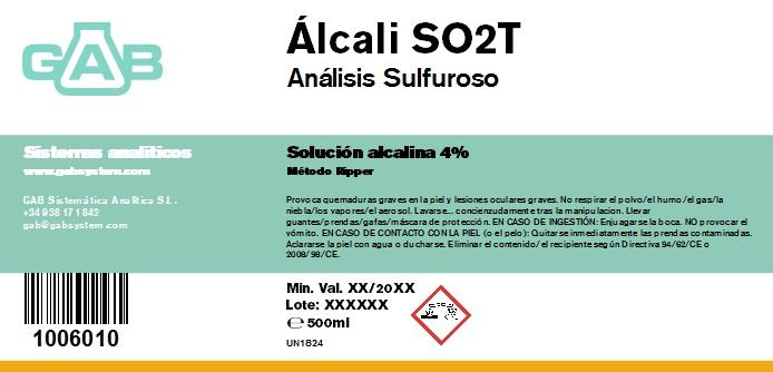 ANALISIS SULFUROSO (SO2) ALCALI 500 mL - ANALISIS SULFUROSO (SO2) ALCALI 500 mL