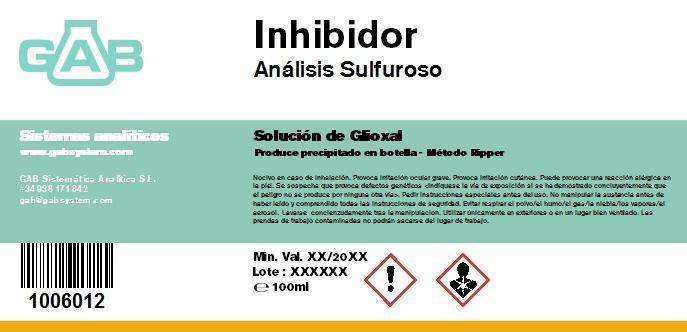 SULFUROSO INHIBIDOR 100mL - SULFUROSO INHIBIDOR 100mL