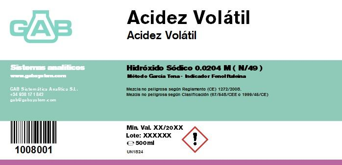 VOLATIL ACIDEZ NaOH N/49 - VOLATIL ACIDEZ Na OH N/49