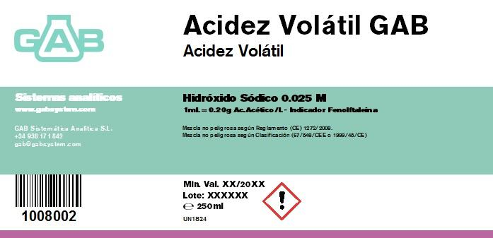 VOLATIL ACIDEZ  NaOH 0.025 mol - VOLATIL ACIDEZ NaOH 0,025 mol