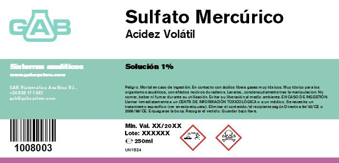 VOLATIL ACIDEZ  SULFATO MERCURIO - VOLATIL ACIDEZ SULFATO MERCURIO