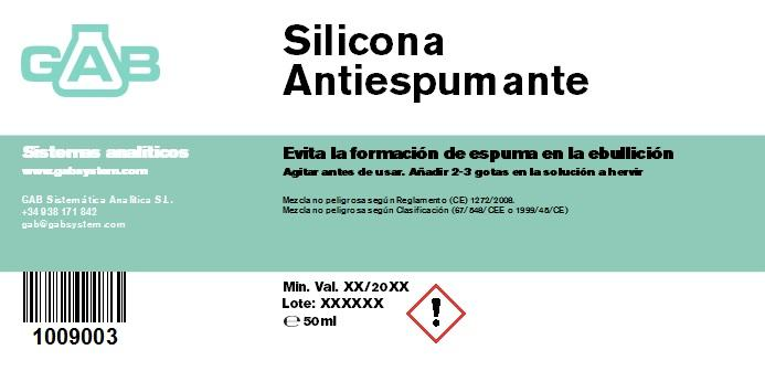 SILICONA ANTIESPUMANTE 50 mL - SILICONA ANTIESPUMANTE 50 mL