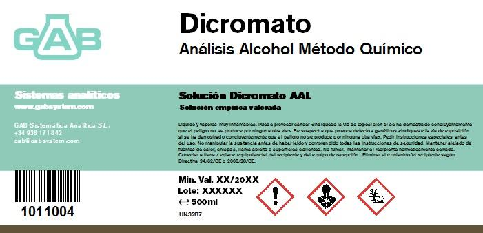 ALCOHOL ANALISIS GAB DICROMATO AAL 500ml