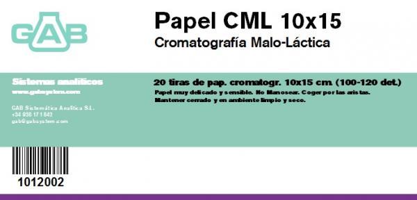 CROMATOGRAFIA PAPEL 10x15 cm  (CML) - CROMATOGRAFIA PAPEL 10x15 cm (CML)