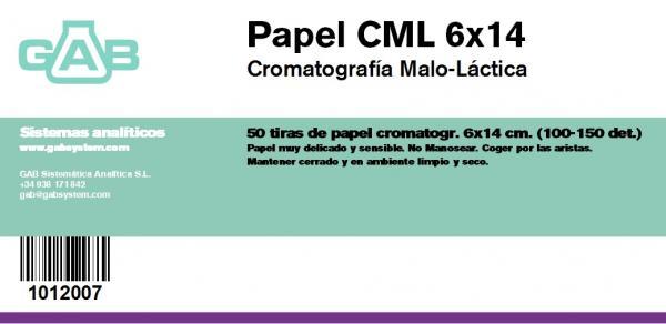 CROMATOGRAFIA PAPEL 6x14 cm  (CML) - CROMATOGRAFIA PAPEL 6x14 cm (CML)