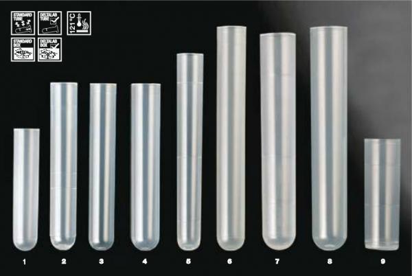 TUBO 10 mL 16x100 PP OPACO bolsa/500 u. - TUBO 10 mL 16x100 Polipropileno  bolsa/500 u.