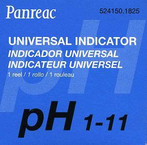 PAPEL INDICADOR PH 1-11 - PAPEL INDICADOR PH 1-11 ROLLO