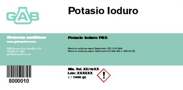 POTASIO IODURO  1000gr - POTASIO IODURO 1000gr
