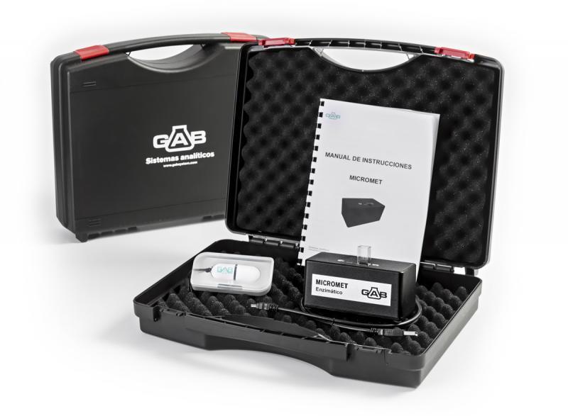 MICROMET Micro analizador ENZIMATICO; GAB; con software, cable USB, maletín e instrucciones. - MICROMET Micro analizador ENZIMATICO 340nm; GAB; con software, cable USB, maletín e instrucciones.