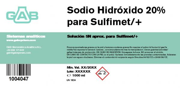 SODIO HIDROXIDO 20% (5N) 1000 ml