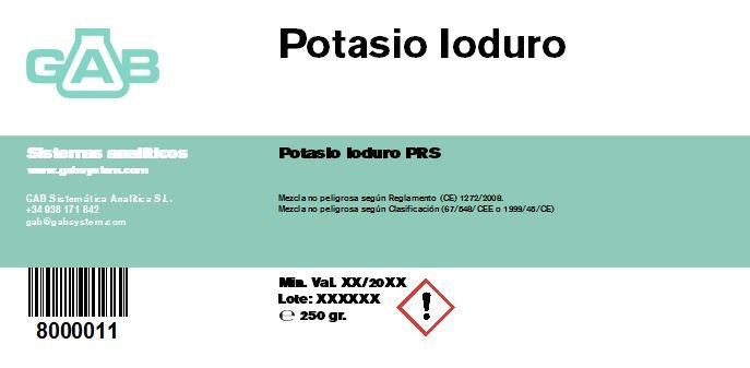 POTASIO IODURO  250gr